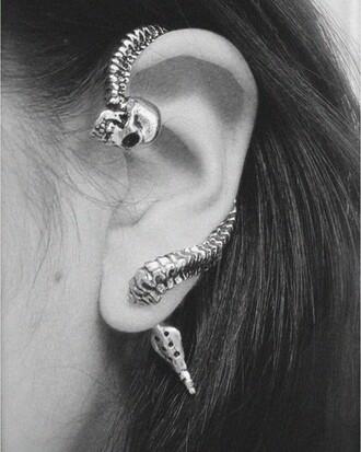skull skellaton earrings jewels