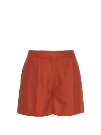 shorts silk orange