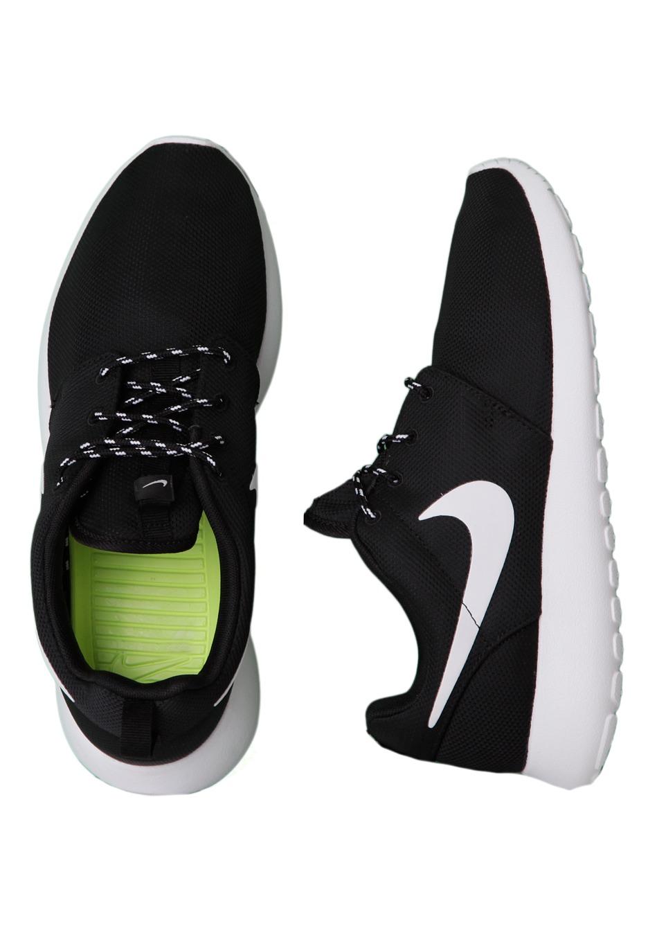 f6482c49e4ddbe Nike - Roshe Run Black White Volt - Girl Shoes