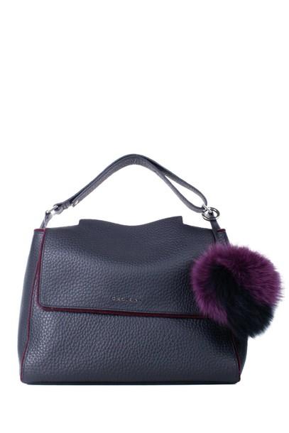 Orciani bag shoulder bag leather black purple