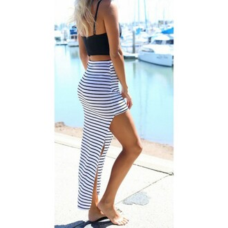 skirt black white and gold shoes black & white stripped skirt black white dress black and white stripes striped skirt black beach skirt
