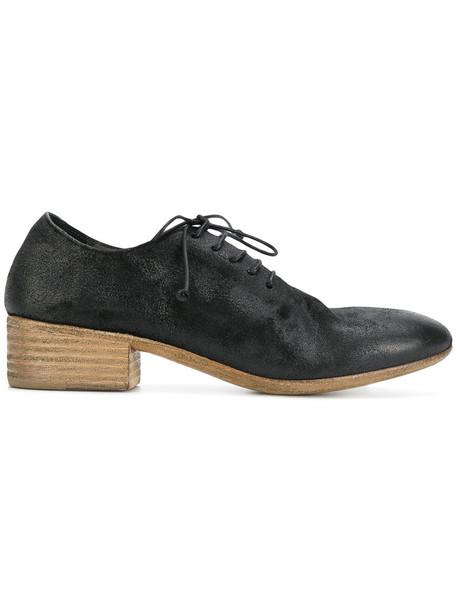 Marsèll heel women shoes lace-up shoes lace leather black