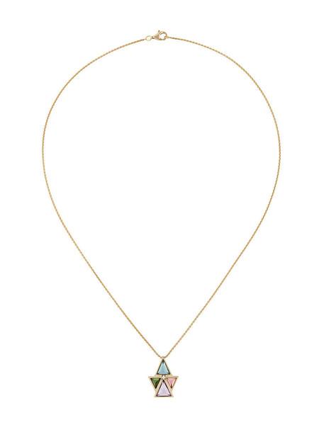 women necklace gold yellow grey metallic jewels