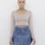 SUNDAY FUNDAY Layered Denim Mini Skirt at FLYJANE