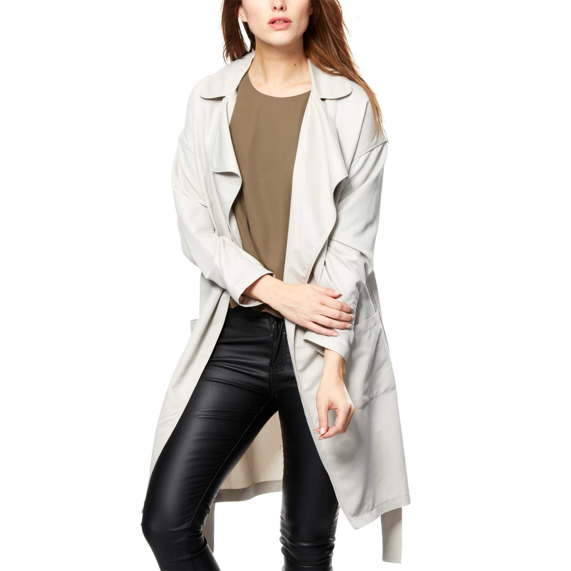Manteau Fluide Fa On Trench Femme 24 50