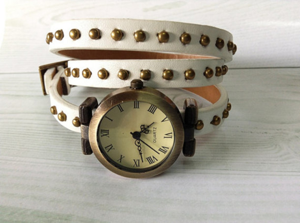 jewels wrap watch studded white watch wrist watch watches vintage style freeforme jewelry accessories
