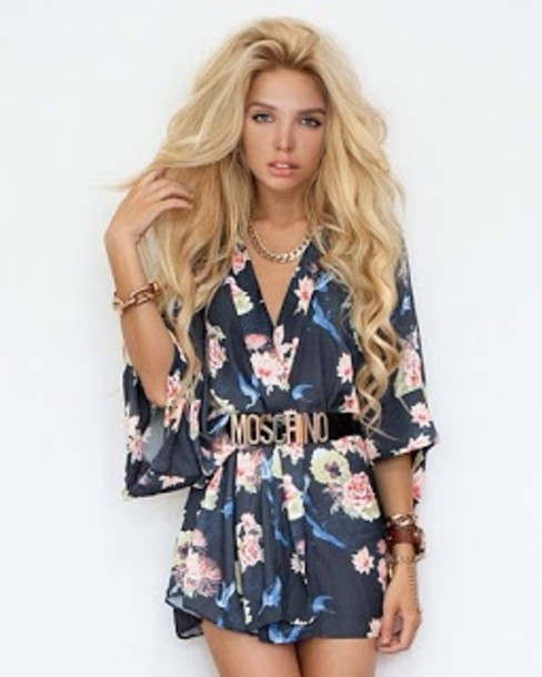 dress flowers cute spring outfits jewels belt