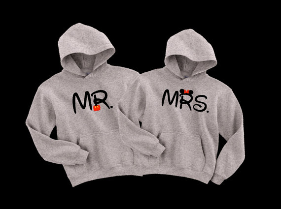 Mr and Mrs MickeyMinnie Pullover by MyClubHouse on Etsy