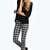 Lara Mono Check Superskinny Tube Jeans