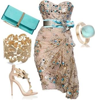 dress beige dress turquoise dress strapless dresses