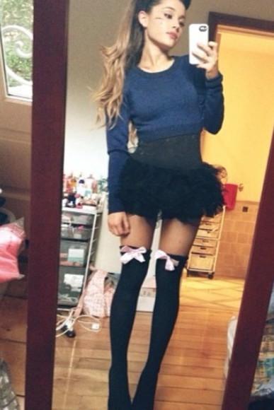 high heels skirt top socks