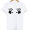 Boobs hand print t-shirt - stylecotton