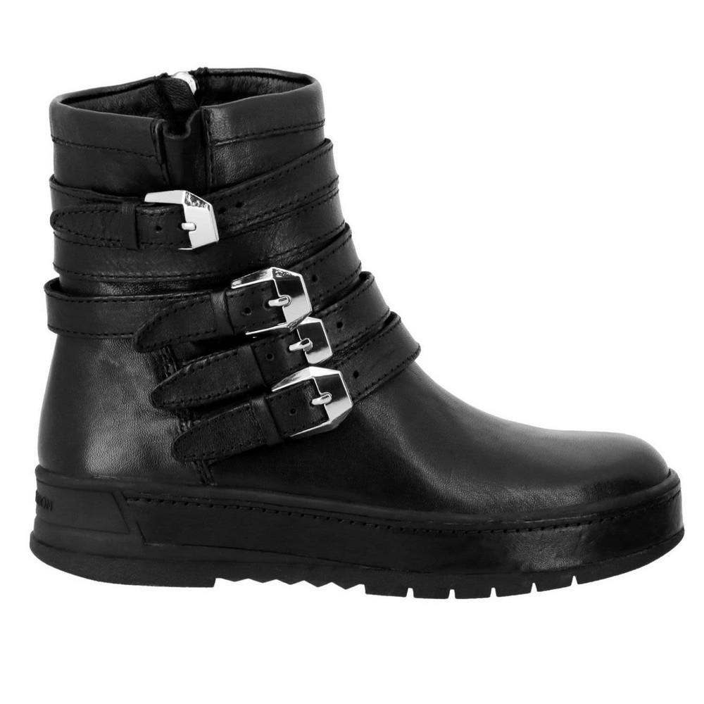 Flat Booties Shoes Women Crime London in black