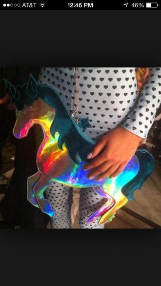 bag sophia webster unicorn holographic
