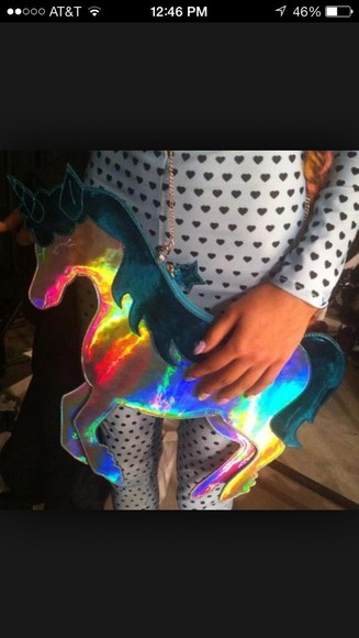unicorn bag sophia webster holographic