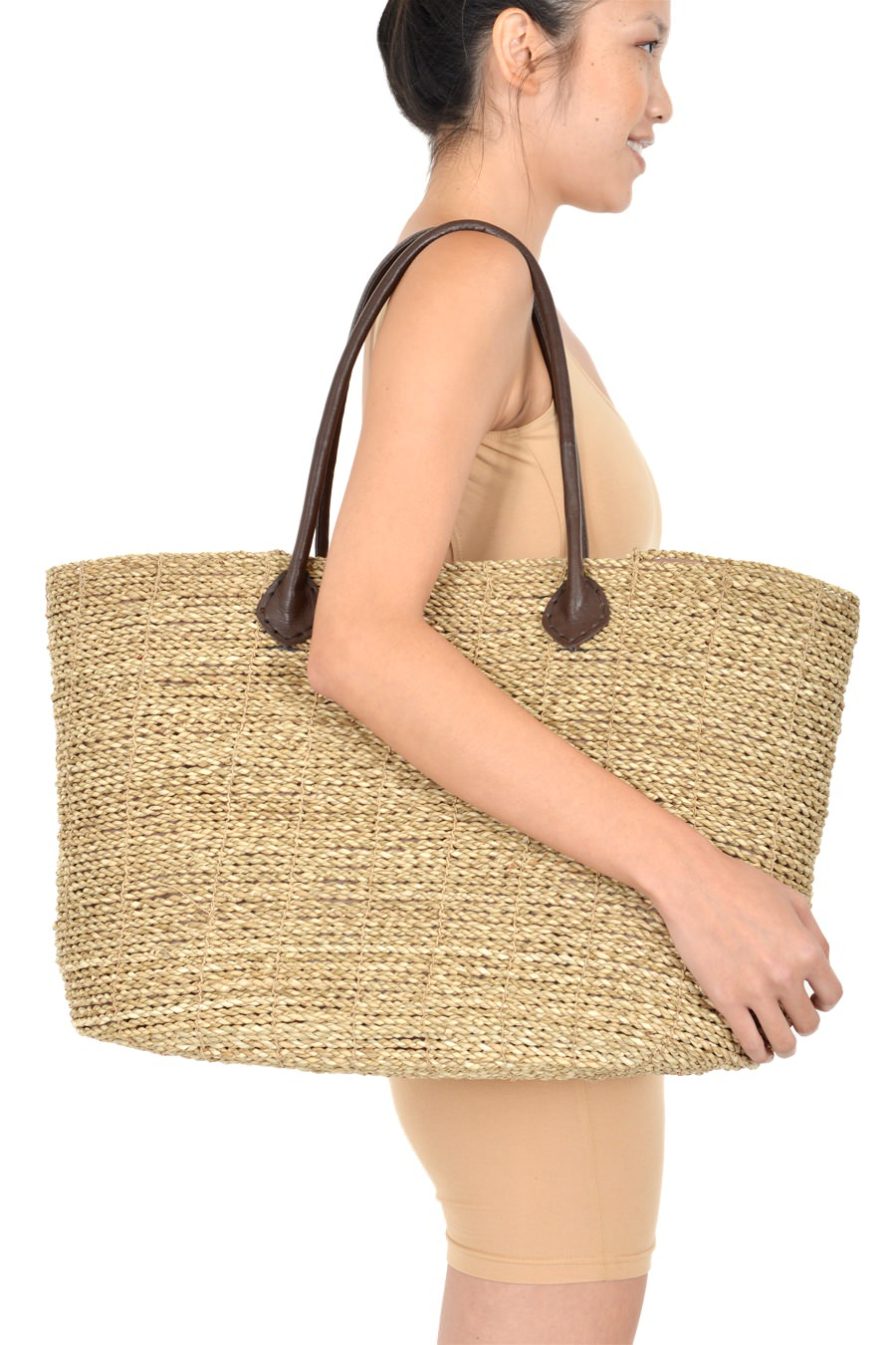 Sandy Anywhere Woven Drawstring Tote