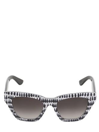 sunglasses white black