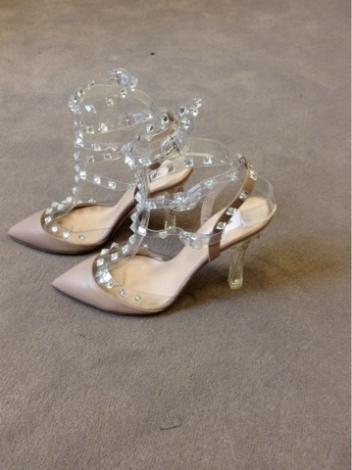 Sandales à talons VALENTINO 38,5 beige occasion - 1890581