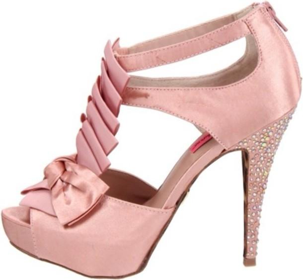 Baby pink heels sandals - photo#16