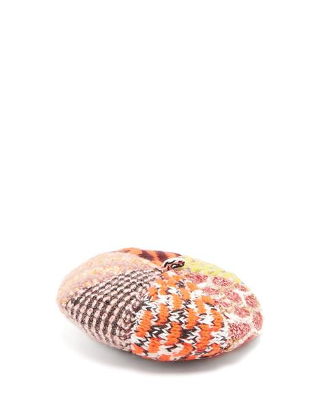 MISSONI Wool-blend beret in brown