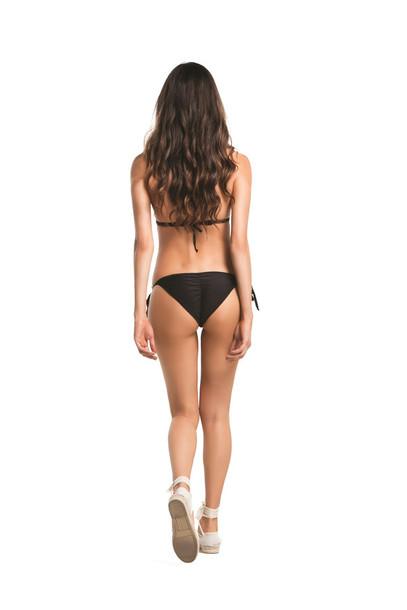 top agua bendita bikini bottoms bikini top cheeky halter top triangle black bikini bikiniluxe