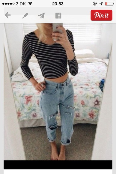 jeans ripped jeans boyfriend jeans torn pants