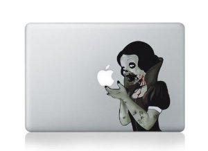 Macbook decal aufkleber snow white zombie passt 15inch: amazon.de: computer & zubehör