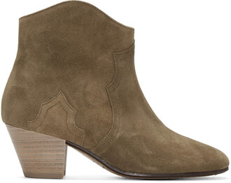 boots ankle boots suede brown shoes