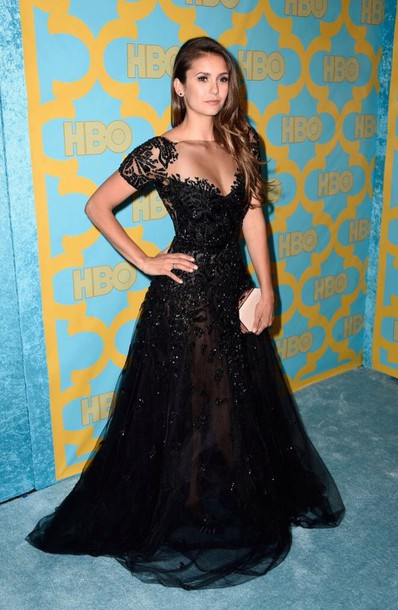 nina dobrev prom dress gown dress