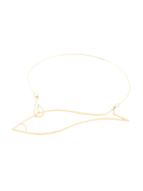 Catalina D'anglade women necklace gold grey metallic jewels