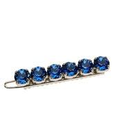 hair accessory,blue wedding accessory,hair clip,rhinestones