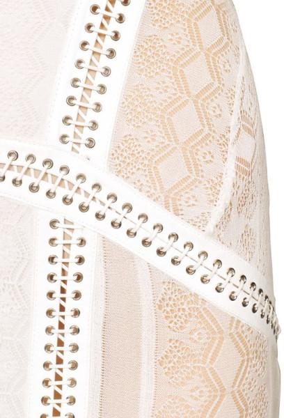Roberto cavalli beige viscose lace long dress