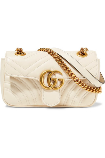 0bd476bb301 Gucci - Gg Marmont Mini Quilted Leather Shoulder Bag - Cream ...