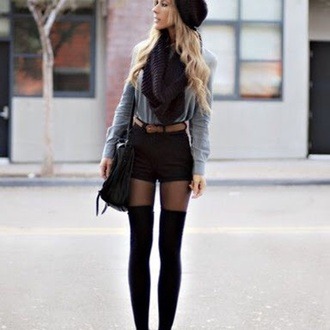 shorts where can i get thes black high waisted short with this badge belt belt top scarf bag hat