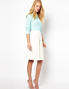 ASOS | ASOS A-Line Skirt in Leather Look at ASOS