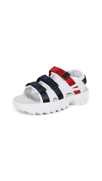 Fila Disrupter Sandals in navy / red / white