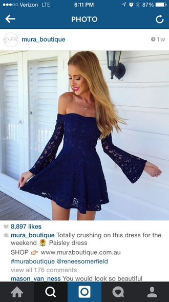 dress paisley navy dress