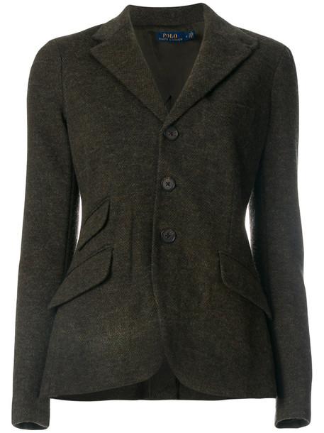 Polo Ralph Lauren blazer women cotton wool green jacket