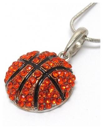 jewels necklace crystal quartz basketball