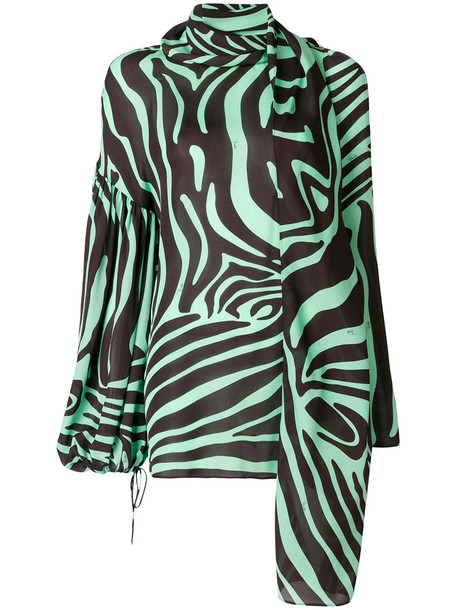 Emilio Pucci blouse printed blouse women silk top