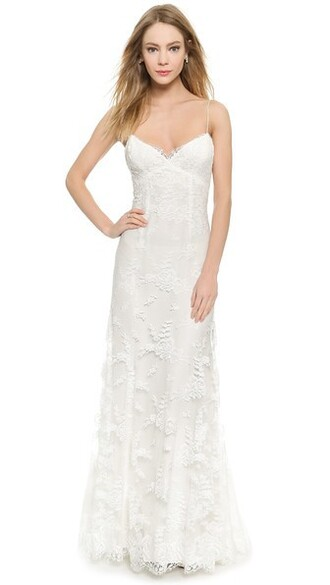 gown lace white silk dress