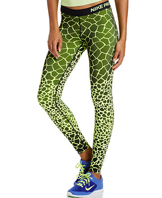nike pro engineered dri fit giraffe print leggings pants. Black Bedroom Furniture Sets. Home Design Ideas