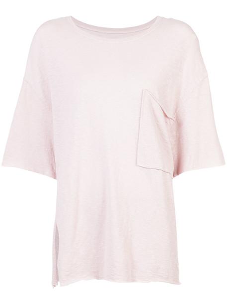 OSKLEN t-shirt shirt oversized t-shirt t-shirt oversized women cotton purple pink top