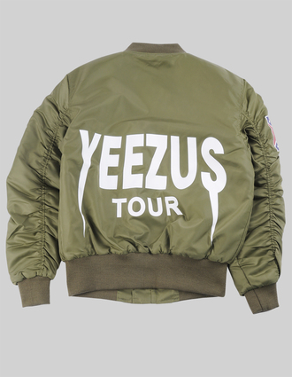 jacket yeezus yeezus jacket kanye west bomber jacket army green jacket