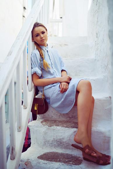kayture shoes bag denim dress