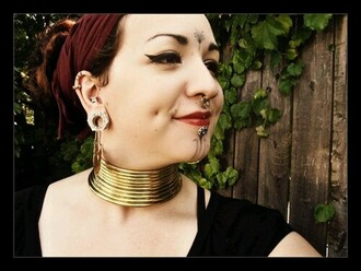 jewels modified modification african necklce collar gold neck jewelry tribal accessories