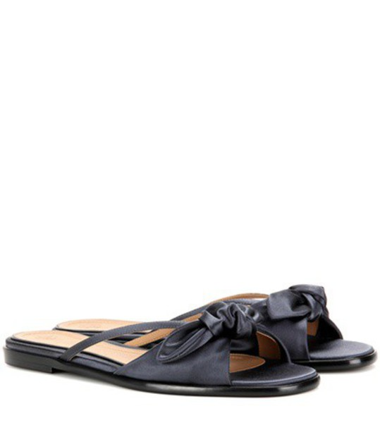 The Row April Satin Sandals in blue