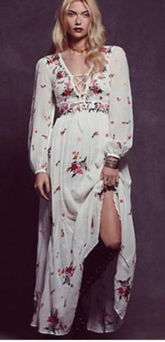 dress boho white dress white floral dress floral boho dress bohemian bohemian dress white floral dress floral bohemian dress