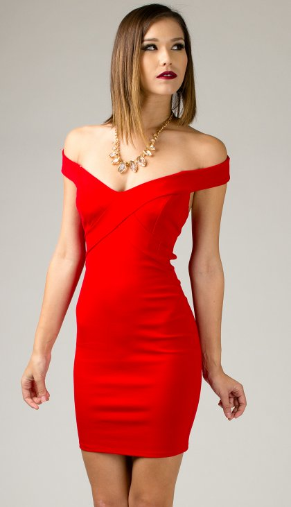 Infinite off shoulder party dress