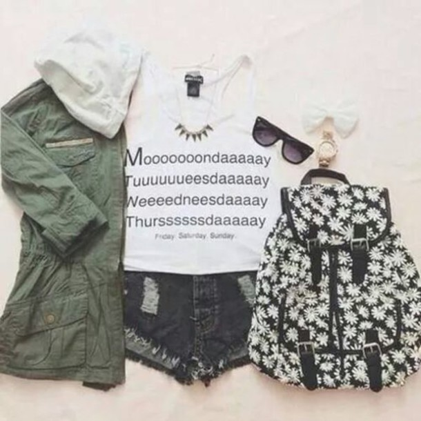 blouse white top shorts